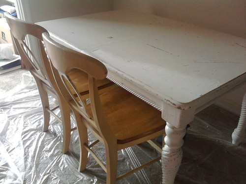 Table and chairs refurbishing