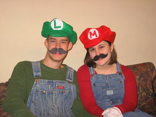 Mario and Luigi for Halloween