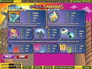 Cool Bananas Slots Payout