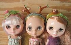 new woodland headbands (merwinglittle dear) Tags: trees mushroom felted woodland doll nest embroidery felt antlers needle blythe headband