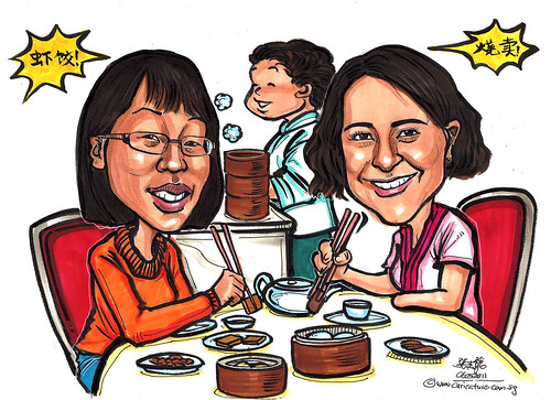 """Dim Sum' time caricatures"
