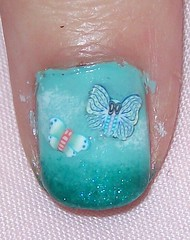 nail art fimo cane butterflies