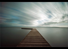 Original motion picture..... (Chrisconphoto) Tags: longexposure sky motion clouds marina canon movement jetty sigma wideangle wirral westkirby chrisconway weldingglass 400d