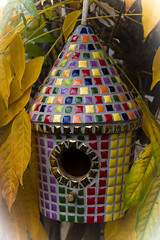 One of a series of birdhouses, now all sold (Mosaic Sian) Tags: mosaic mosaics multicoloured mosaicbirdhouse gardenmosaic