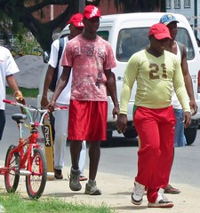 Road reds (Legin_2009) Tags: road street red people man black male men guy cars sports grass bike bicycle shirt walking outside outdoors person persona shoes gente walk african guys sneakers trainers personas sidewalk vehicles cap males caribbean shorts persons talking hombre hommes sweats sweatpants männer homme hombres mec sportsmen mecs athleticshoes digicel gason