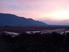 View towards Puquillay. (ladywolf2805) Tags: chile autumn sunset wine vineyards