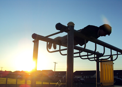 Planking At Sunset