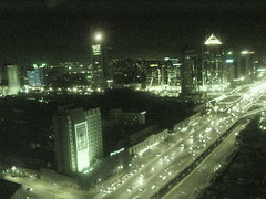 Night Scene - Aerial Beijing01911 (Philip McMaster PeacePlusOne_\!/) Tags: beijing cbd nighttraffic photophilipmcmaster redlinghts