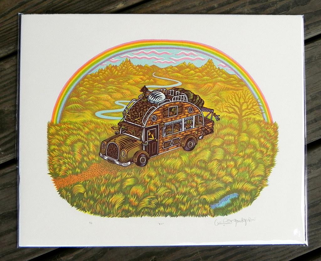 """""""RV"""" Woodbock Print ~ FIRST PROOF!"""