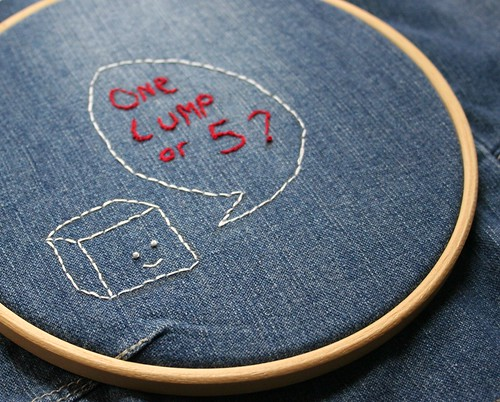 One lump or 5 embroidery