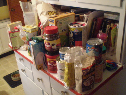 Sorting out the pantry - goodies