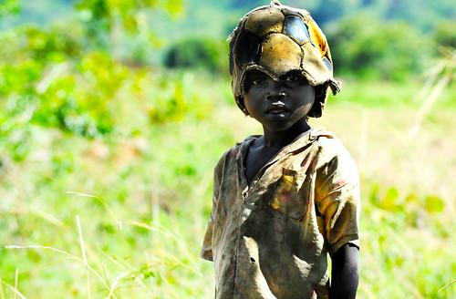 フリー写真素材, 人物, 子供, 少年・男の子, 帽子・キャップ, ウガンダ人, アフリカの子供,