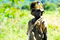 [フリー画像] 人物, 子供, 少年・男の子, 帽子・キャップ, ウガンダ人, アフリカの子供, 201106250700