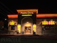Famous Daves (Jim Purcell) Tags: longexposure red summer arizona usa yellow rock architecture night digital photoshop mediumformat landscape restaurant commerce seasons pentax tucson landscaping tripod citylife structures az architectural multipleexposure chain business entertainment photograph dining casual summertime nightlife capitalism enterprise trade lightmeter foodanddrink hdr highdynamicrange stucco topaz lightroom photomatix mercantilism photomechanic tonemapping exteriorview pimacounty pentaxspotmeter tucsonphotographer pentax645d smcpentaxa45mm28 southernstylebarbecue