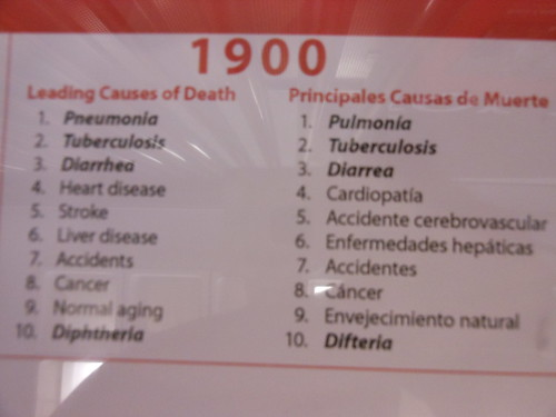 Causes of death in 1900