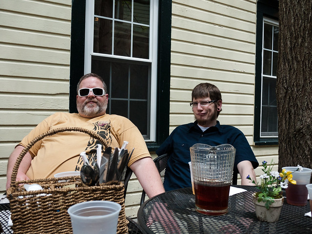 Jim and Alan in Sharon Springs