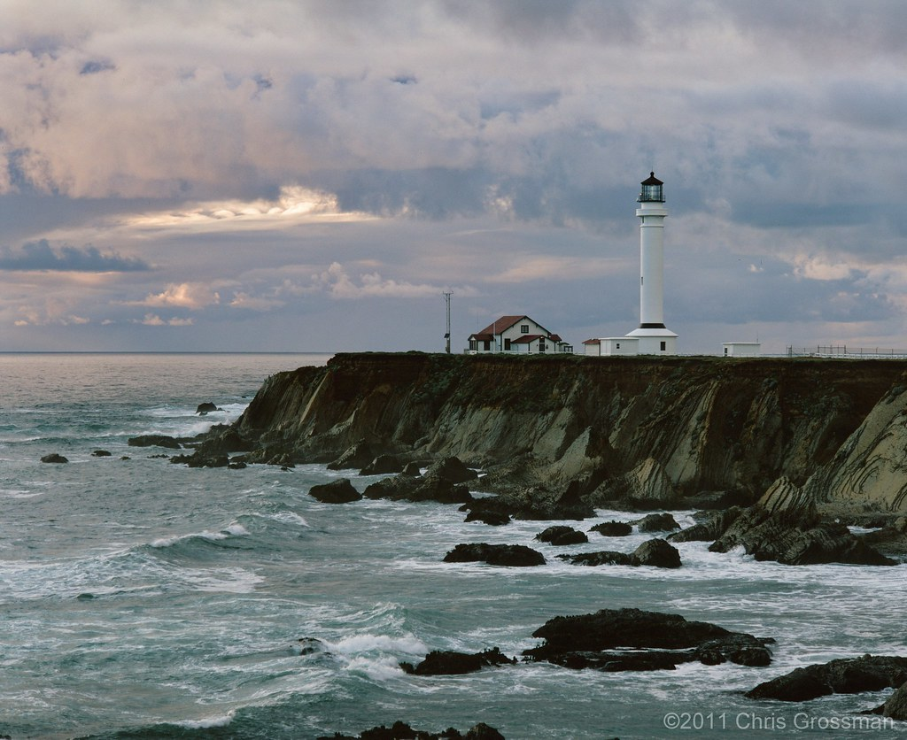 The Point Arena Lighthouse - Mendocino- County, California  Pentax 6x7 - 200mm f/4 - Astia 100