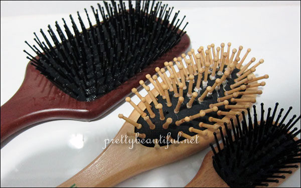 3 hair brushes2
