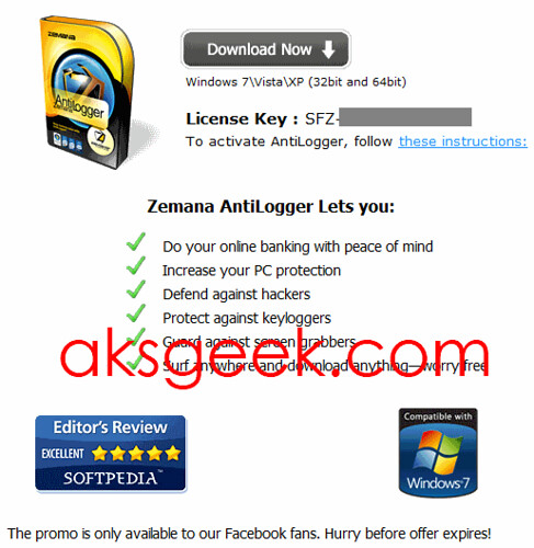Zemana Antilogger license key