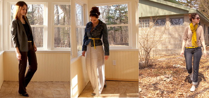 dash dot dotty dashdotdotty blog remix to the yellow belt three ways to wear