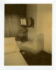 White Sands Motel (Nick Leonard) Tags: old city vegas abandoned film television analog vintage polaroid tv bed closed chairs lasvegas furniture nevada nick motel retro motelroom packfilm colortv instantfilm peelapart type100 epson4490 polaroidfilm vacent whitesandsmotel nickleonard chocolatefilm colortvbyrca polaroidchocolatefilm expired2009