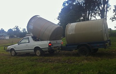 abuse of brumby (cskk) Tags: white water truck tank australia 4wd ute nsw subaru trailer brumby brat awd mv1800