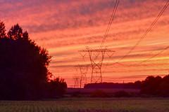Sunset over Salem County (seanbeebe_photo) Tags: sunset afterglow power pylons newjersey salem county nj farmland nature