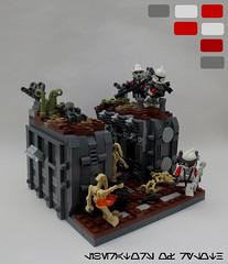 Mission 9.1: Liberators of Ryloth (JAlexanderHutchins) Tags: lego star wars clone droid gun trench ryloth turret foilage dirt blaster greebles 253rd phoneix liberators