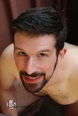 Alex (Levi Smith Photography) Tags: nude beard hair brunette man male men mens fashion portrait eyes brown smile cute handsome hot shirtless
