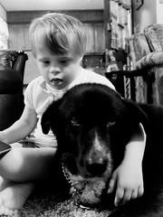 Lily and Cocoa (mtfbwy) Tags: lilana bw dog cocoa