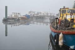 La Marina XT1+16-55_DSF2306 (mich53 - thank you for your comments and 3M views!) Tags: fog brume brouillard mantesenyvelines limay colors 2016 xt1 xf1655mmf28rlmwr fujifilm riverside lamarina boats seine
