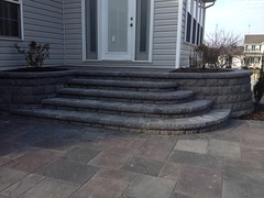 construction (29) (The Sharper Cut Landscapes) Tags: belgardhardscapes backyard landscapedesign landscaping landscapecompany landscapelighting patio pavers plantings seatwall steps retainingwall thesharpercutlandscapes thesharpercut