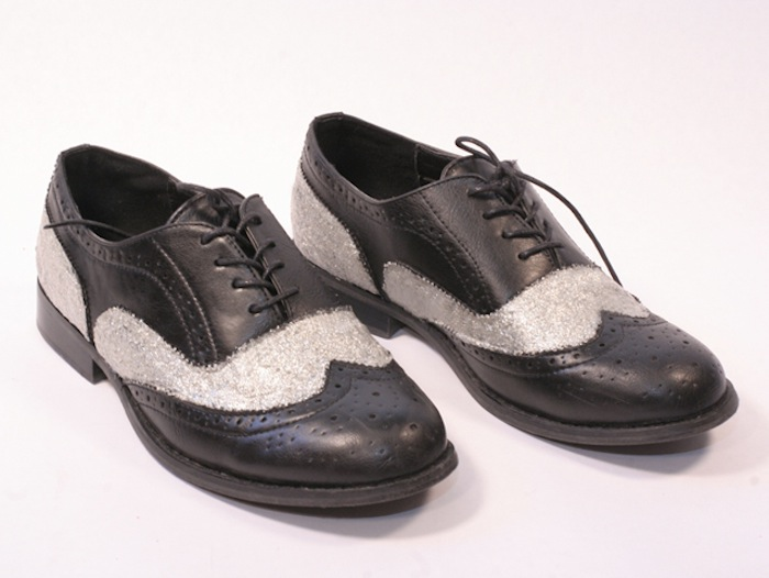 DIY Dolce & Gabbana metallic shimmer oxfords 1