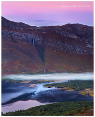 Tendrils (Dylan Toh) Tags: uk pink light sunset cliff mist mountain river landscape photography scotland waterfall dusk loch dee maree slioch torridon everlook