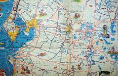 florida map ephemera 1950s transportation cartography geography roadmap drafting centralflorida oldmap randmcnally oldmaps highwaymap