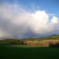 A tiny bit of rainbow north of Ballston