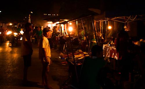 Luang Prabang - mercado alimentos