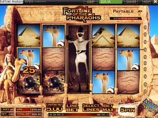 free Fortune of the Pharaohs slot expanded wild