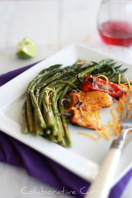 Broiled Asparagus and Sweet Pepper
