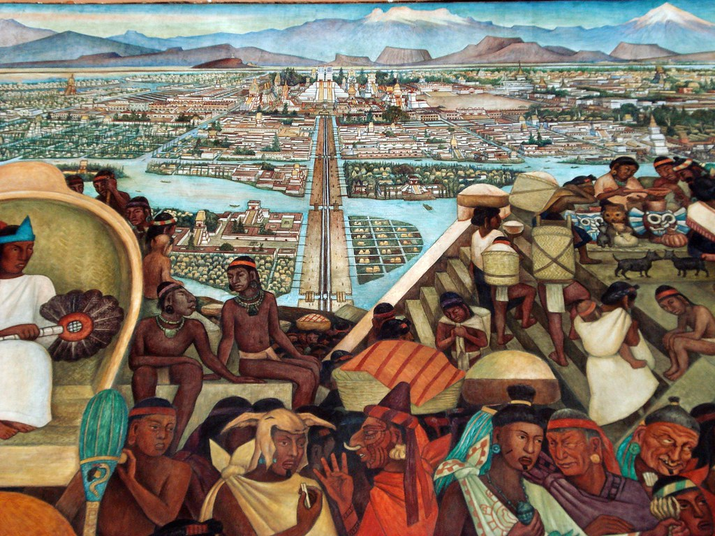 The world 39 s best photos of centro and tenochtitlan for Diego rivera tenochtitlan mural