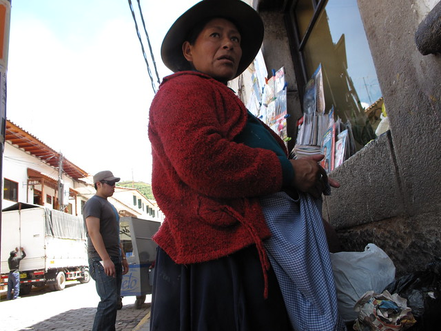 street seller cusco, Peru