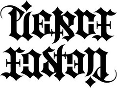 """Pierce"" & ""Easton"" Ambigram"