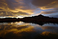 Desert Sunset (Ph0tomas) Tags: sunset sky mountain lake newmexico clouds sunrise landscape lumix pond g wideangle g1 f4 mmountain 714 waterreflections vario mygearandme mygearandmepremium mygearandmebronze mygearandmesilver ph0tomas
