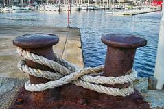 Ocho (INMAR) Tags: espaa costa puerto cuerda muelle mar spain barcos 8 rope oxido galicia ocho pesca pontevedra redes combarro corda oito amarre poio amarrado peirao aparellos