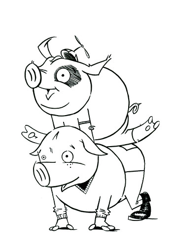 Leapfrog Pigs by Jason Dryg