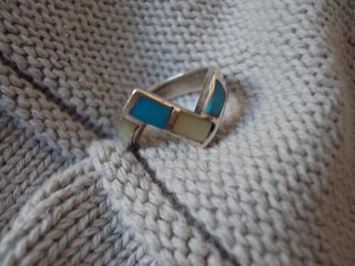 Turquoise Zig Zag Ring