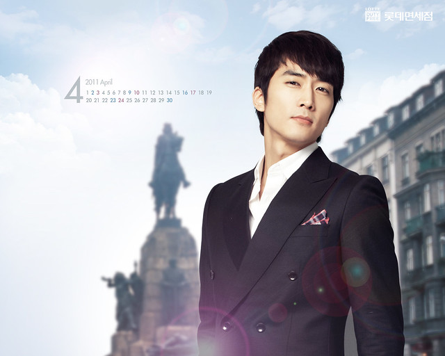 Song Seung Hun Lotte Duty Free April 2011 Calendar Wallpapers