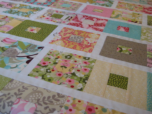 Basted Hunky Dory quilt