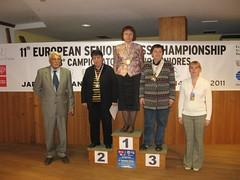 EU Senior Rapid 2011 Women Podium