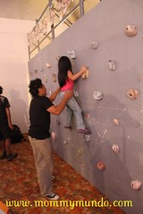 Wall Climbing at Camp Explore's Booth